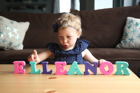 MDH Toys Solid Wood Custom Name Puzzle Toddler Toys, Wooden Toys Made in Canada. Photo By Evie Rose Photography (Edmonton, Alberta)