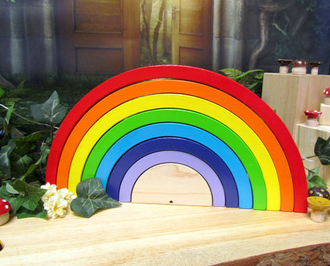 MDH Toys Rainbow Stacker puzzle educational learning toy made in Canada by M.D. Handfield Designs Inc.