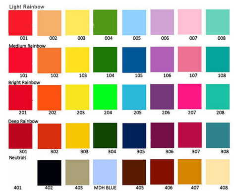 MDH Toys custom colour chart for handcrafted wooden toys made in Canada