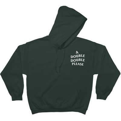 A Double Double Please - Hoodie S / Green