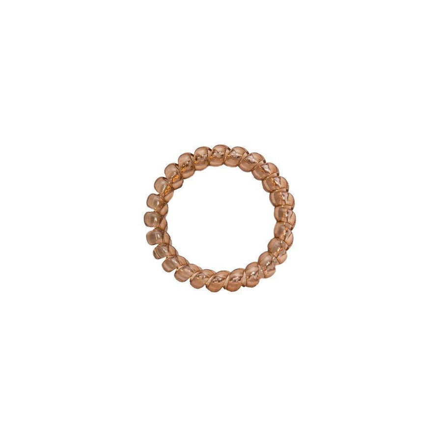 Crystal Brown Elastics Hair Ties (Pack of 3)