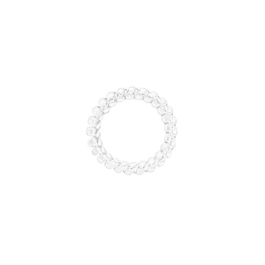 Crystal Clear Elastics Hair Ties (Pack of 3)