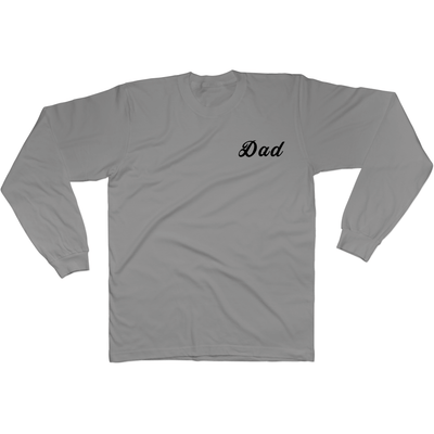 Dadism Who Touched The Thermostat? - Long Sleeve Tee