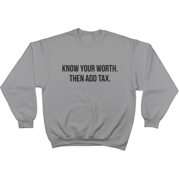 Know Your Worth - Sweater Norm Kelly 6DAD Hockey Dad Toronto Dad 6STORE Formosa Labs Dad Shirt Toronto Shirts Toronto Merchandise