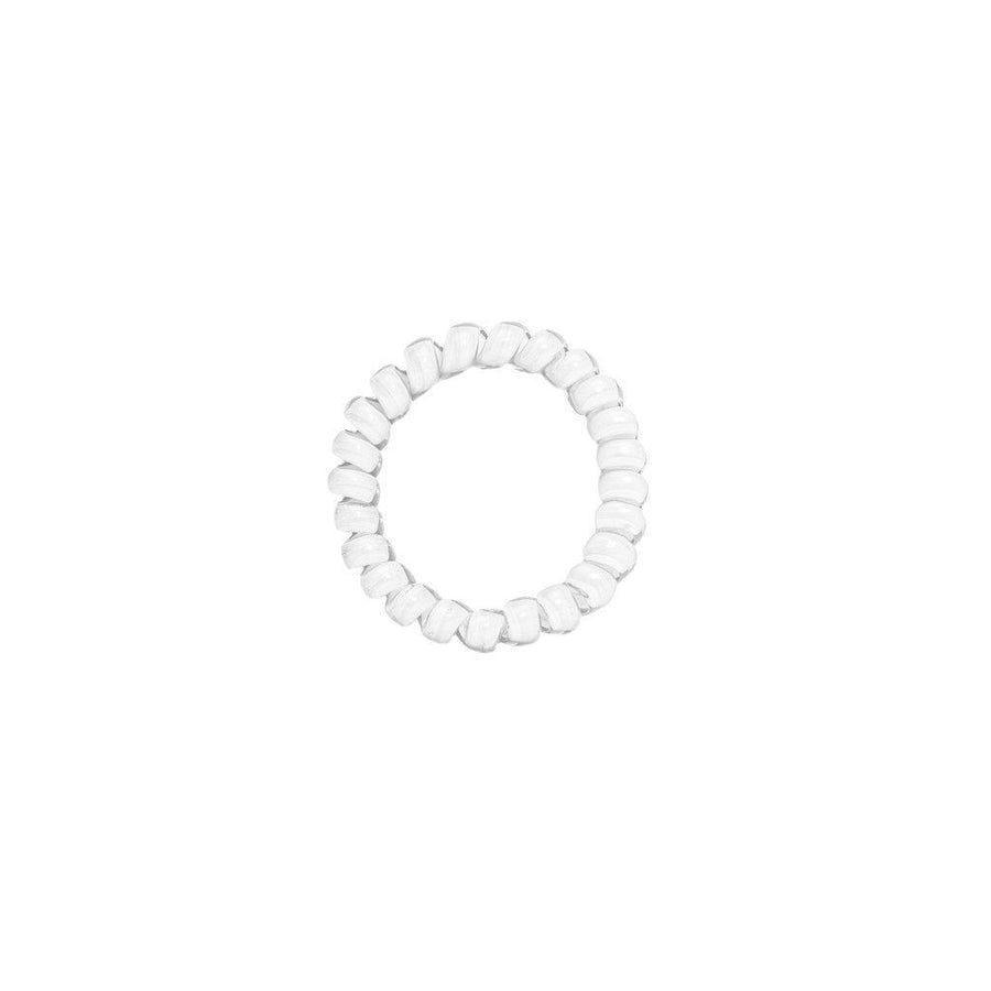 Marble White Elastics Hair Ties (Pack of 3)