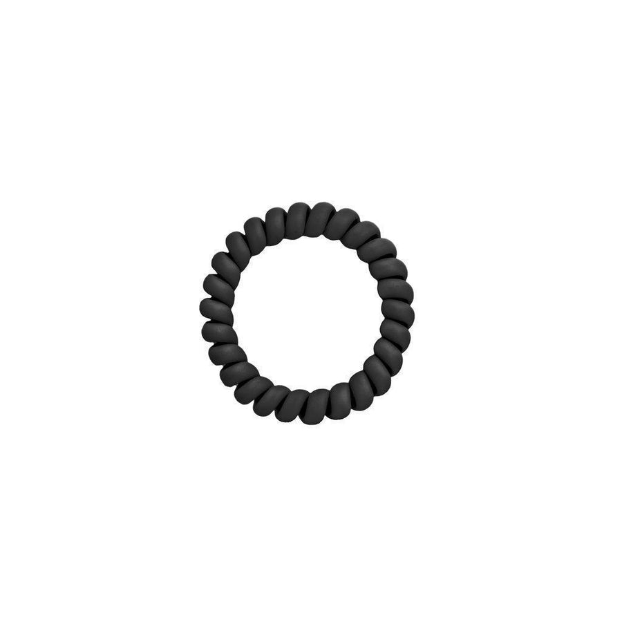 Matte Black Elastics Hair Ties (Pack of 3)