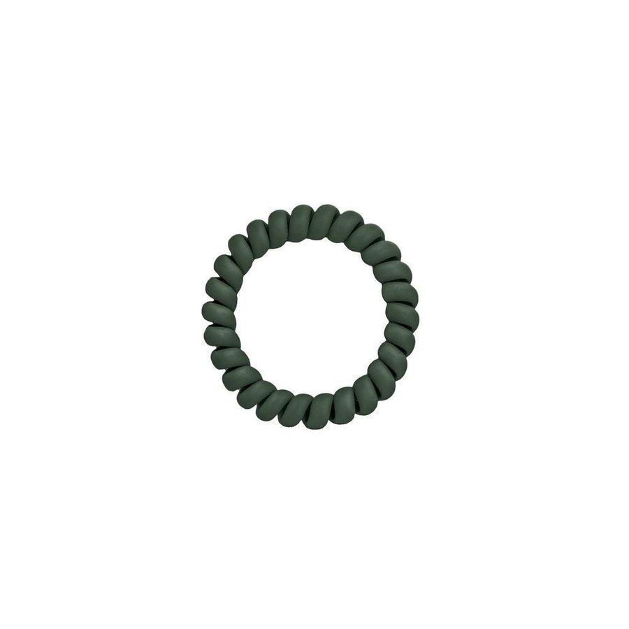 Matte Green Elastics Hair Ties (Pack of 3)
