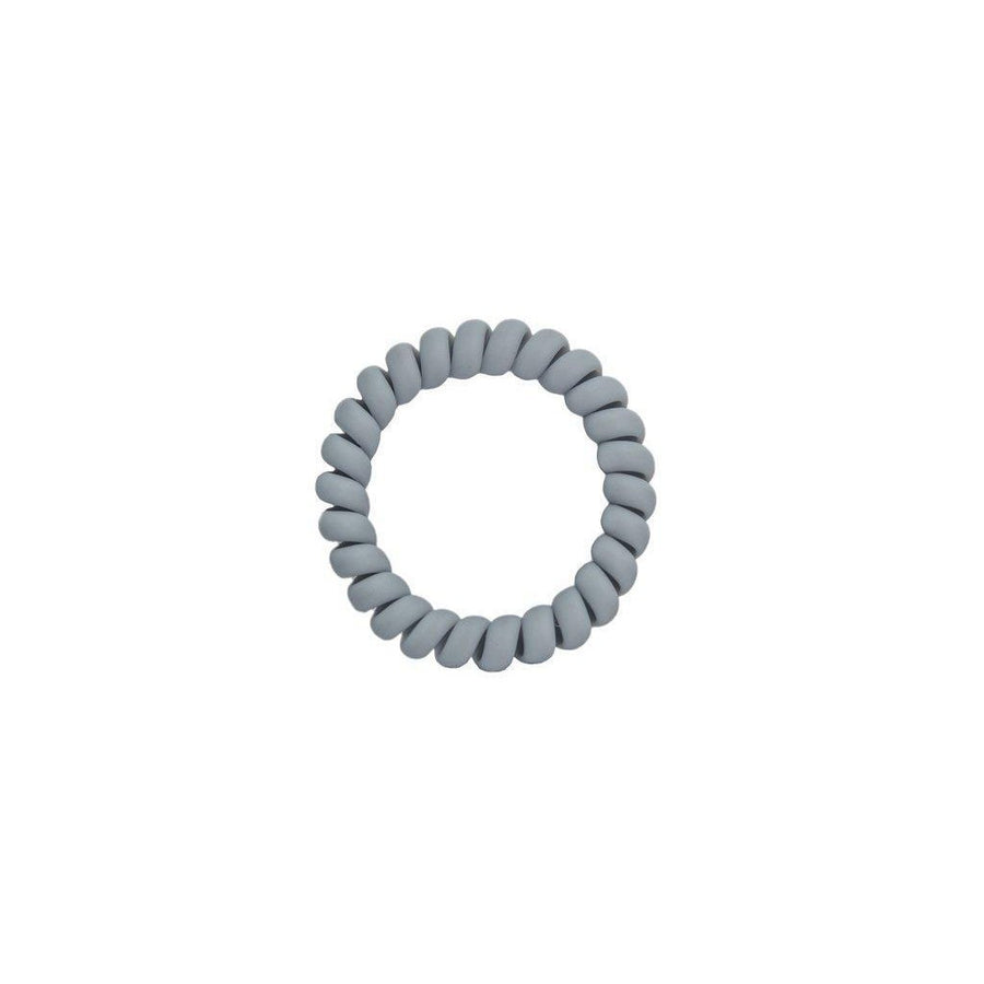 Matte Grey Elastics Hair Ties (Pack of 3)