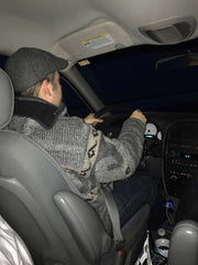 Mark driving to RootsTech