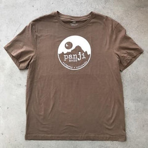 PANJI T-SHIRT : BROWN (white print)