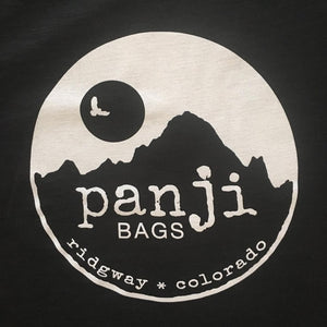 PANJI T-SHIRT : BLACK (white print)