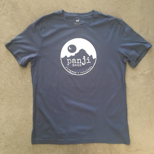 PANJI T-SHIRT : BLUE (white print)