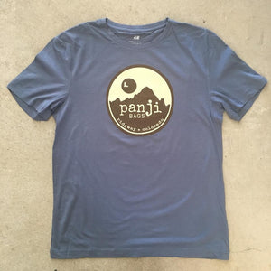 PANJI T-SHIRT : BLUE (tan print)