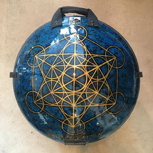 LTD : MEDIUM : BLUE + GOLD METATRON CUBE