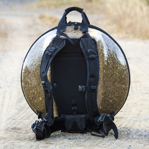 Backpack Support System : Additional Features : Ergonomic Handpan Hardshell Bags : Panji Bags