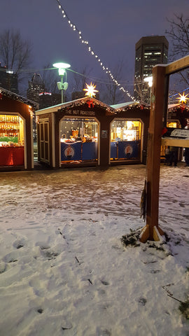 Snow at Christmas Village Baltimore