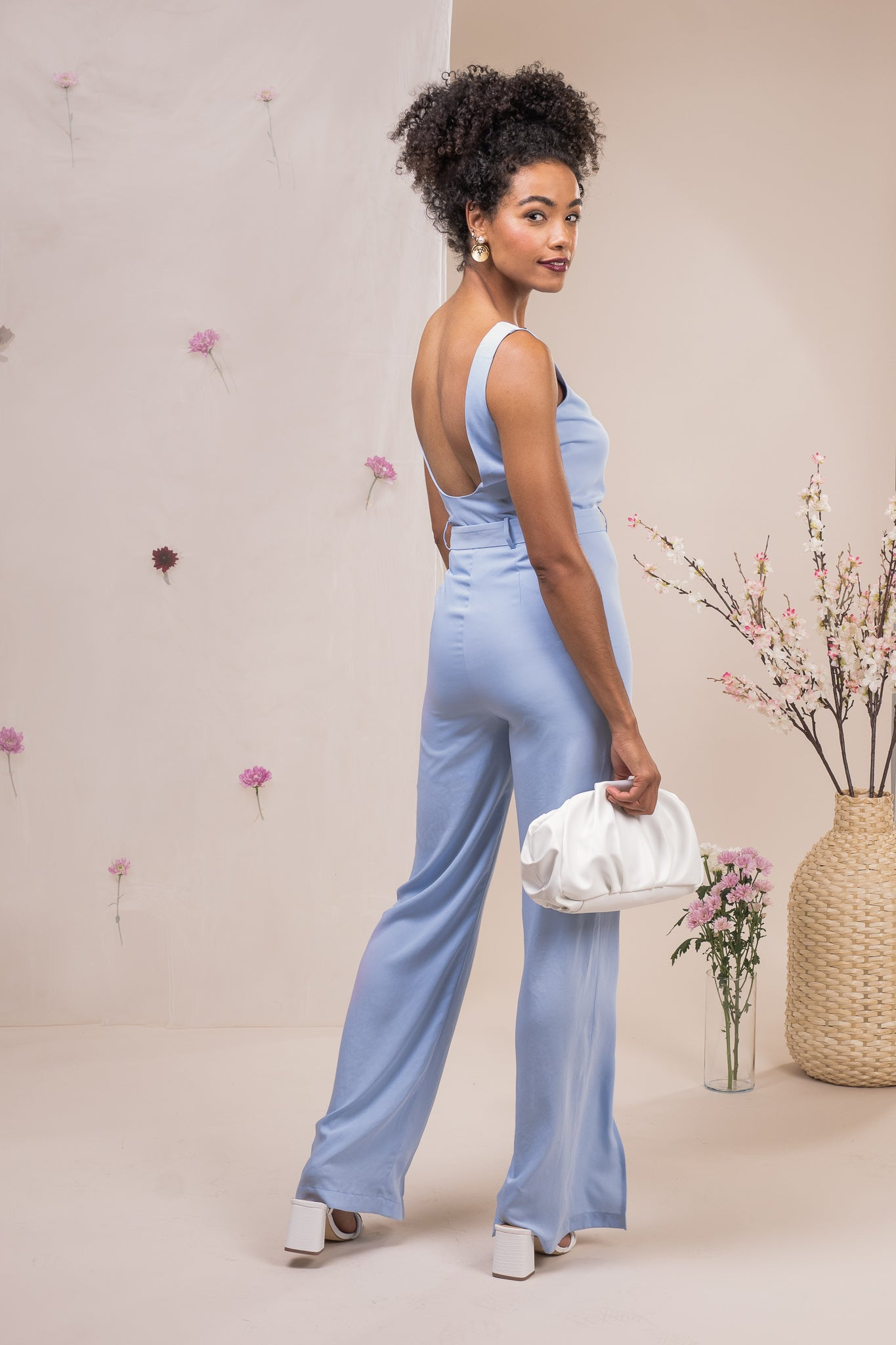 BELTED LOW BACK JESSICA JUMPSUIT