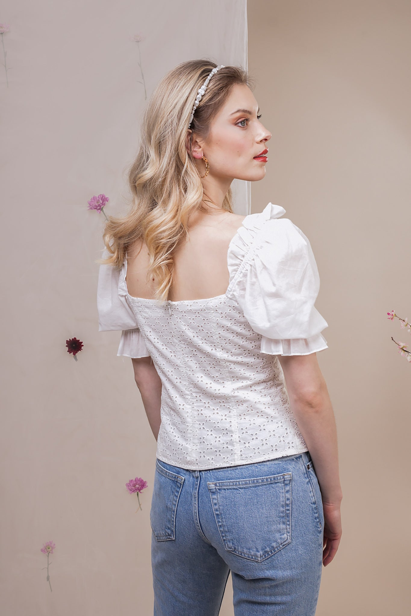 BRODERIE MILKMAID LAYLA TOP