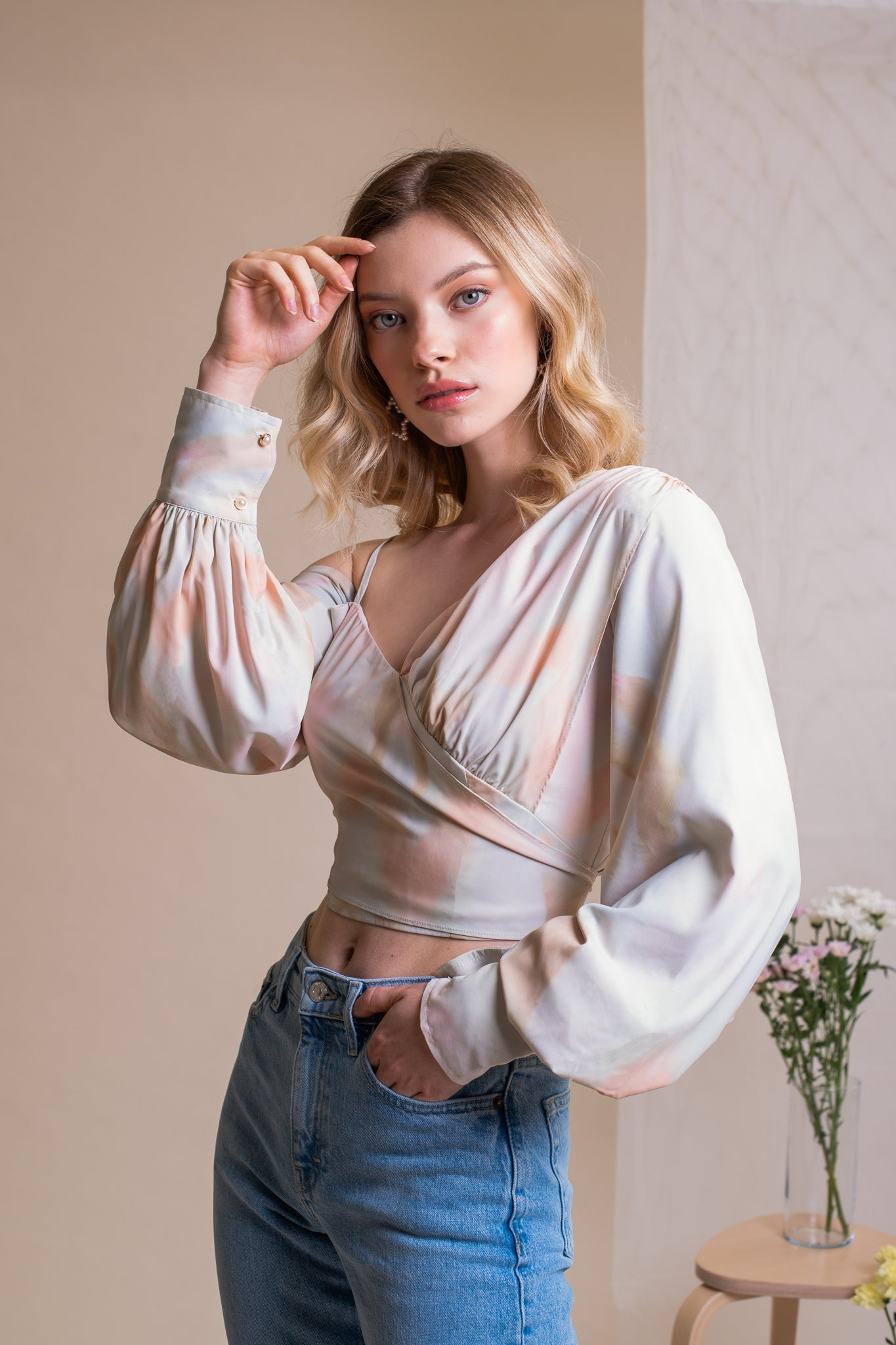TIE DYE ONE SHOULDER AVERY TOP
