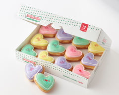 Krispy Kreme to the rescue, Releases new conversation heart doughnuts