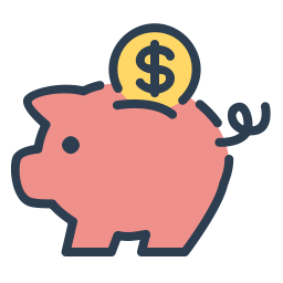 Piggy Bank Image to illustrate Sweet Fest referral program for design services.