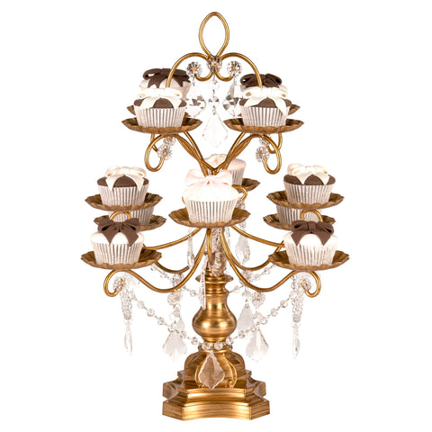 Madeleine Antique Gold 12 Piece Dessert Cupcake Stand by Amalfi Decor