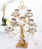 Gold Crystal-Draped Cupcake Stand