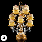 Gold Crystal Chandelier Type Cupcake Stand