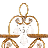 Handle details for the Gold Crystal Chandelier Cupcake Stand sold by Sweet Fest.