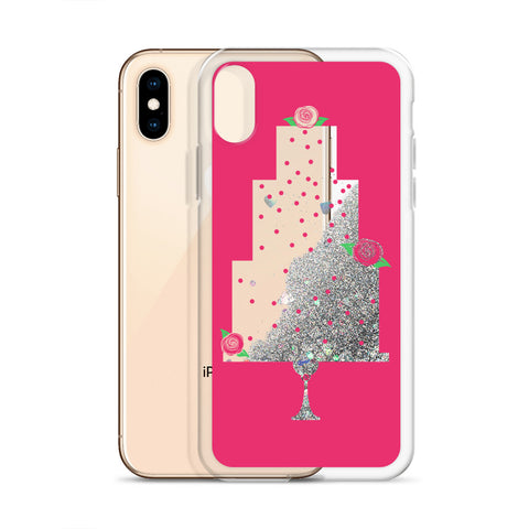 Wedding Cake, Glitter iPhone Case