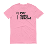 Light Pink Pop Game Strong t-shirt for bakers, sweet treat makers and cake poppers.