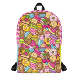 Cupcake, cake, macaron and donut backpack for bakers, teens and kids by Sweet Fest