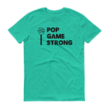 Green Pop Game Strong t-shirt for bakers, sweet treat makers and cake poppers.