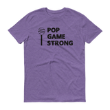 Purple Pop Game Strong t-shirt for bakers, sweet treat makers and cake poppers.
