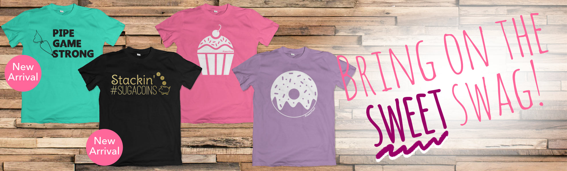 T-shirts and gifts for bakers and sweet treat makers designed by Sweet Fest.