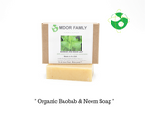 neem soap with neem leaf and baobab