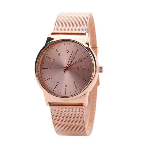 2017 Luxury Gold Rose Gold Women Stainless Steel Quartz Wrist watch woman Ladies Dress Watch Relogio feminino
