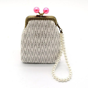 2017 Women Wallets Small Coin Purses With Pearl Chain Wallet Hasp Purse Ladies Clutch Bag carteras mujer #XTJ