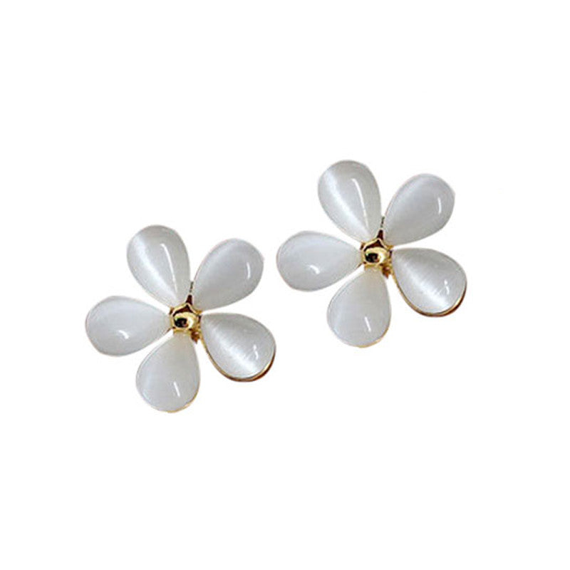 Elegant Beautiful Cyrstal Sakura Shape Ear Ring Earing for Girl
