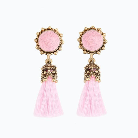 1 Pair Antique Jewelry Round Crystal Silk Long Tassel Earrings For Women 2017 Wholesale Vintage Jewellery Accessories earring