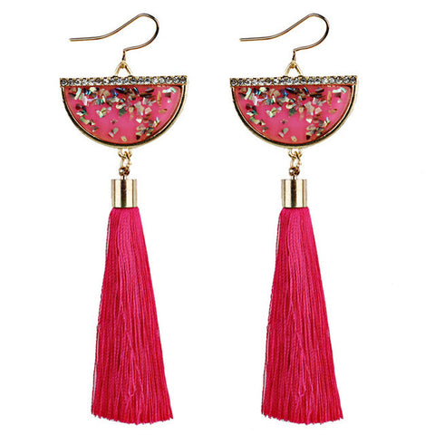 2017 New Fashion trend women Sector Metal Tassels Pendant Bohemian Earrings Long Tassel Fringe Dangle Earrings  #30
