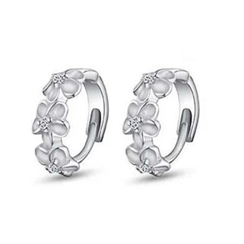 1Pair Women's Camellia Of Design Of Stud Earrings