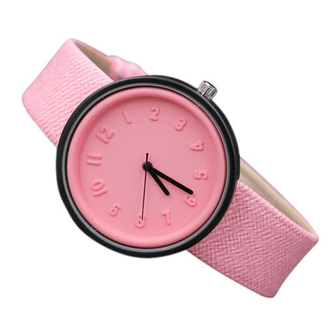 2017 New Watches Women Candy Color Simple Fashion Watches Quartz-watch Canvas Strap Wrist Watch For Women Relogio Feminino #