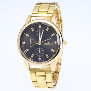 New Mens Watches Diamond Dial Steel Analog Quartz Wrist Watch