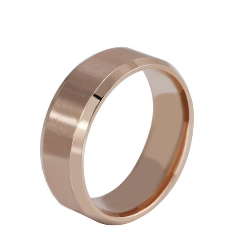 New Stainless Steel Ring Titanium Silver Black Gold Men SZ 7-11 Wedding Black 10