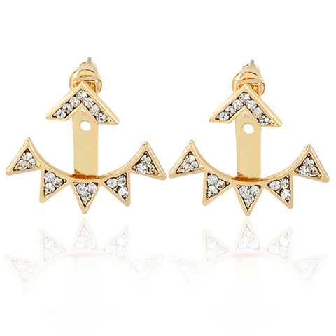 1 Pair New Fashion Simple Alloy Triangle Women Stud Earrings GD
