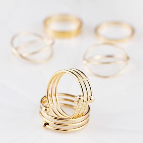 6PCS/Set Fashion Women Lady Ring Jewelry Finger Tip Stacking Rings 6#