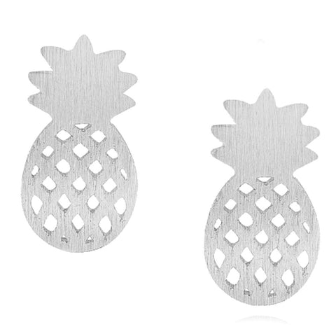 Fashion Jewelry Pineapple Shape Earrings Ear Studs Lovely For Girls Gifts GD