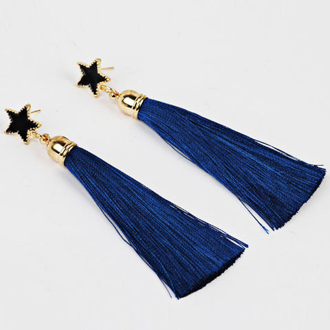 Bohemian Women Ethnic Hanging Rope Tassel Earrings BU