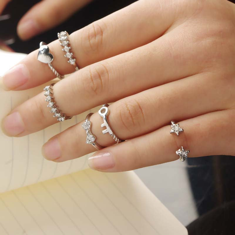 6PCS/Set Womens Trendy Knuckle Rings